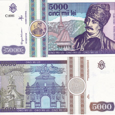 ROMANIA 5.000 lei 1992 UNC!!!, An: 1992