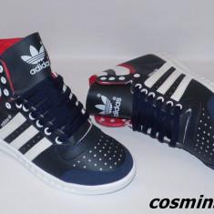 Ghete ADIDAS SLEECK Model NOU de Sezon 2015 - Alb / Bleumarin / Negru !!! - Ghete barbati Adidas, Marime: 42, 43, Piele sintetica