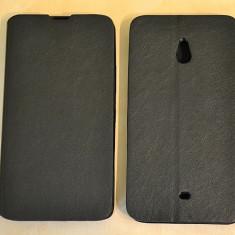 Husa Nokia Lumia 1320 Flip Case Slim Black, Negru, Piele Ecologica, Toc, Cu clapeta