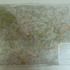 Harta color Germania Statele Turingiei Thuringische Staaten Leipzig 1899 - Harta Germaniei