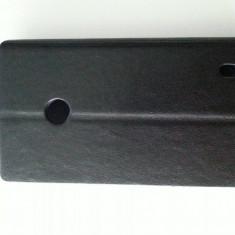 Husa toc flip alb Nokia Lumia 520 + folie ecran + expediere gratuita Posta - sell by PHONICA, Negru, Piele Ecologica