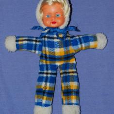Papusa / papusica, cap din cauciuc, corp din material textil umplut cu vatelina, vechi, vintage, colectie, nostalgici, anii '80 - Papusa de colectie