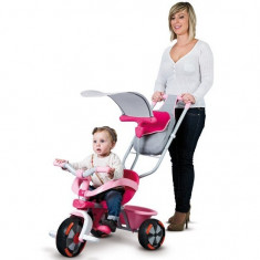 Tricicleta Smoby 3 in 1 Baby Driver Confort - Tricicleta copii Smoby, 0-12 luni, Fata, Roz