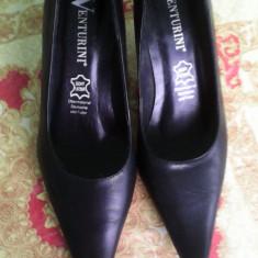Pantofi dama, Marime: 36, Negru - Pantofi gala venturini