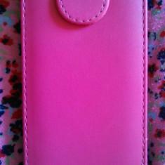 Husa flip roz Sony Xperia M - Husa Telefon Sony, Piele Ecologica, Cu clapeta