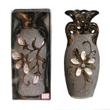VAZA CERAMICA CU SCOICI (30 CM) - Suport flori