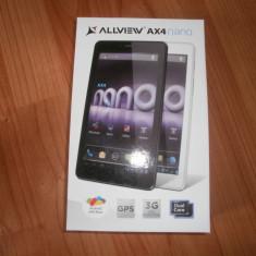 Tableta Allview AX4 nano, 7 inch, 4 Gb, Wi-Fi + 3G