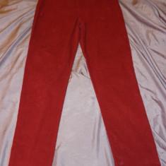 Pantaloni velur Marina Rinaldi, 100% originali - Pantaloni dama Marina Rinaldi, Marime: M/L, Culoare: Rosu