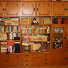 Biblioteca cu 3 corpuri si dulap cu doua usi - Biblioteca living