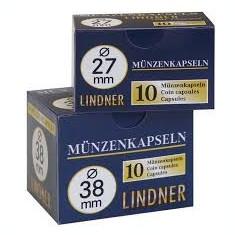 CUTIE CAPSULE pentru monede ( 10 buc ) LINDNER Ǿ 23 mm