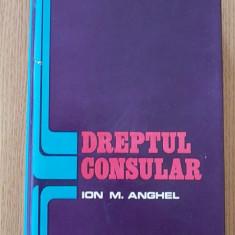 DREPTUL CONSULAR- ION M. ANGHEL- CARTONATA, SUPRACOPERTA