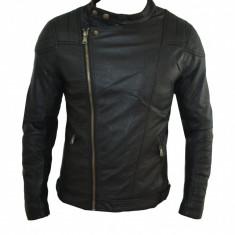 Geaca Zara Piele Ecologica Model Motto Cod Produs D325 - Geaca barbati Zara, Marime: XL, XXL, Culoare: Negru