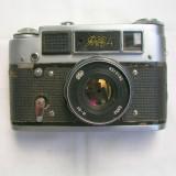 Aparat foto cu film Fed 4+obiectiv Industar 61+toc, RF (Rangefinder), Mic