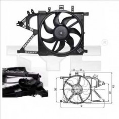 Ventilatoare auto - Ventilator, radiator OPEL VITA C 1.0 - TYC 825-0007