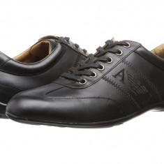 Adidasi barbati - Pantofi sport barbati Armani Jeans Leather Lace-Up Driver | 100% originali | Livrare cca 10 zile lucratoare | Aducem pe comanda orice produs din SUA