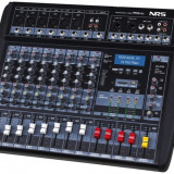MIXER PROFESIONAL AMPLIFICAT PUTERE 760 W, 8 CANALE, LCD, BLUETOOTH, MP3 USB, RADIO. - Mixer audio