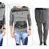 Trening tip ZARA barbati - Trening gri Hanorac + Pantaloni cu turu lasat :3063 - Trening barbati, Marime: XL, Culoare: Din imagine