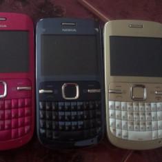 Telefon mobil Nokia C3, Roz, Neblocat - NOKIA C3 ROZ si negru POZE REALE