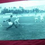 Fotografie interbelica -Stadion si meci de fotbal- dim.= 19, 8 x 14, 8 cm