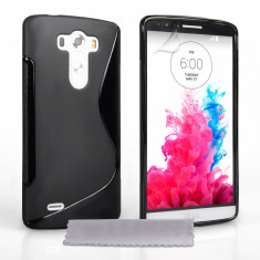 Husa Telefon LG, Negru, Silicon, Husa - HUSA LG G3 silicon neagra s line tpu grip + folie ** LIVRARE GRATUITA !!!