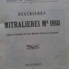 Locotenent Grigoriu Sergiu - Descrierea Mitralierei Md 1910 / editata 1911