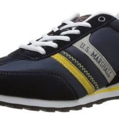 Adidasi Originali US Marshall - adidasi unisex - sport - piele naturala - in cutie - 40 - Adidasi barbati Calvin Klein, Culoare: Negru, Piele intoarsa