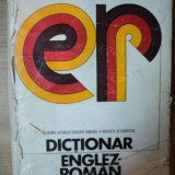 DICTIONAR ENGLEZ - ROMAN 1974