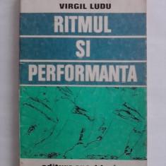 Carte despre Sport - Ritmul si performanta - Virgil Ludu / C36P