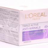 Cremă de față L'Oreal Paris Triple Active Anti-Wrinkle 45+ Day, Matur