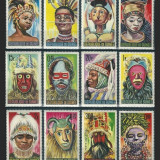 GUINEA 1965 - MASTI AFRICANE - SERIE NESTAMPILATA MNH COTA :14 E(SERIE COMPLETA)
