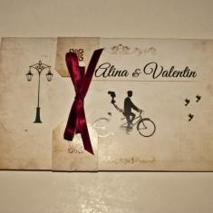 Invitatie de nunta - meniu - plic de bani - Invitatii nunta