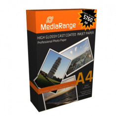 HARTIE FOTO A4 MEDIARANGE 220GSM GLOSSY INKJET 100COLI/TOP - Hartie foto imprimanta