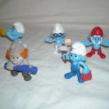 Strumfi, smurfs - 5 figurine mari strumf din cauciuc - set 12 - Figurina Desene animate