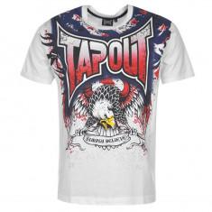 Tricou Tapout mas L -Lichidare stoc - Tricou barbati, Marime: L, Culoare: Alb, Maneca scurta, Bumbac