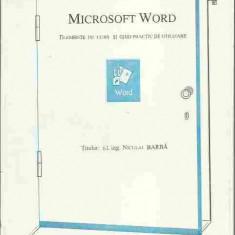 Niculai Barba - MICROSOFT WORD, ELEMENTE DE CURS SI GHID PRACTIC DE UTILIZARE - Carte Microsoft Office