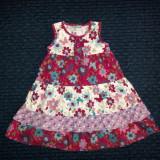 Rochita de vara multicolora cu flori, marca Ladybird, fetite 2-3 ani