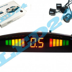 Senzori de Parcare SunTop CU DISPLAY LCD PE LED SI SUNET, INDICATOR DISTANTA