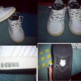 Adidasi K-Swiss USA 9/ UK 8-1/2 / EUR 26 - Adidasi copii, Culoare: Alb