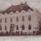 Romania, Maramaros Sziget, Sighetul M. carte postala circulata 1903: Scoala Fete
