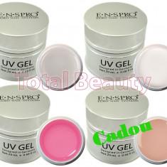 Gel unghii - Set 3 x Gel UV ENS PRO Deluxe 20 gr + CADOU Gel UV Camuflaj unghii false
