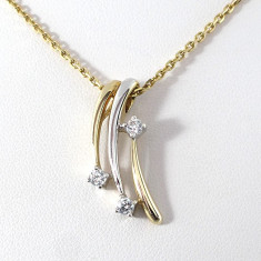 Lantisor aur, Femei - Lantisor superb aur 8crt cu pietre zirkonia