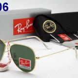 Ochelari de Soare Casual RayBan Ray Ban Model 3026 Mirror Green LENS Silver Gold