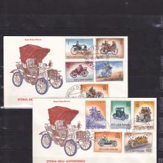 Timbre straine, Nestampilat - Transport, masini vechi FDC, San Marino.