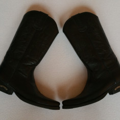 Cizme dama, Piele naturala - Cizme '' Ciocate'' negre, masura 40