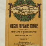 VERSURI POPULARE ROMÂNE DISTRACTIVE - Carte traditii populare