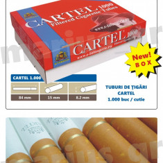 Foite tigari - CARTEL 1000 - Cutie cu 1000 de tuburi pentru injectat tutun in tuburi de tigari