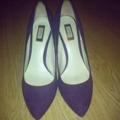 Pantofi ZARA - Pantof dama Zara, Marime: 38, Culoare: Mov, Piele intoarsa