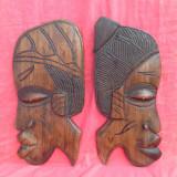 Frumos cuplu din lemn de abanos / exotic - Arta Africana !!!