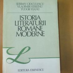 Istoria literaturii romane moderne S. Cioculescu V. Streinu T. Vianu Buc 1985 - Studiu literar