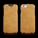 Husa piele iCARER iPHONE 6, 6S flip cover clapeta, inchidere magnet, BROWN GOLD